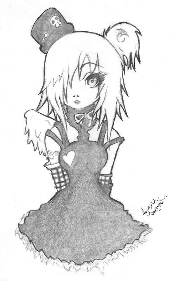 Anime drawings emo girl by mrcartoon on deviantart