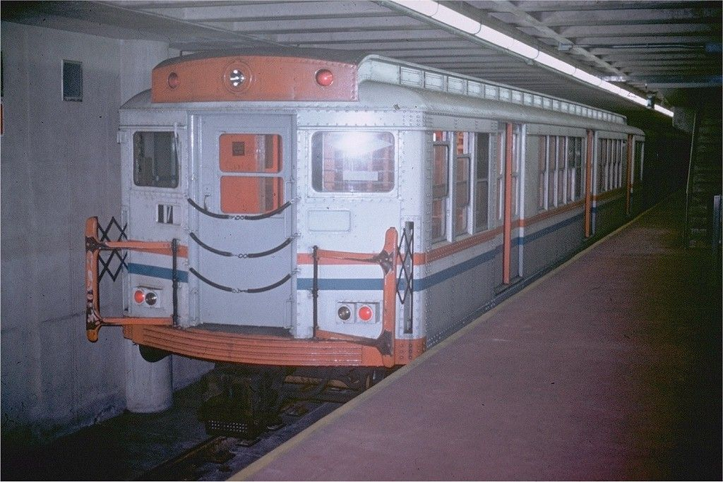 SEPTA Broad St Subway Pattison Ave. 1974 Subway train