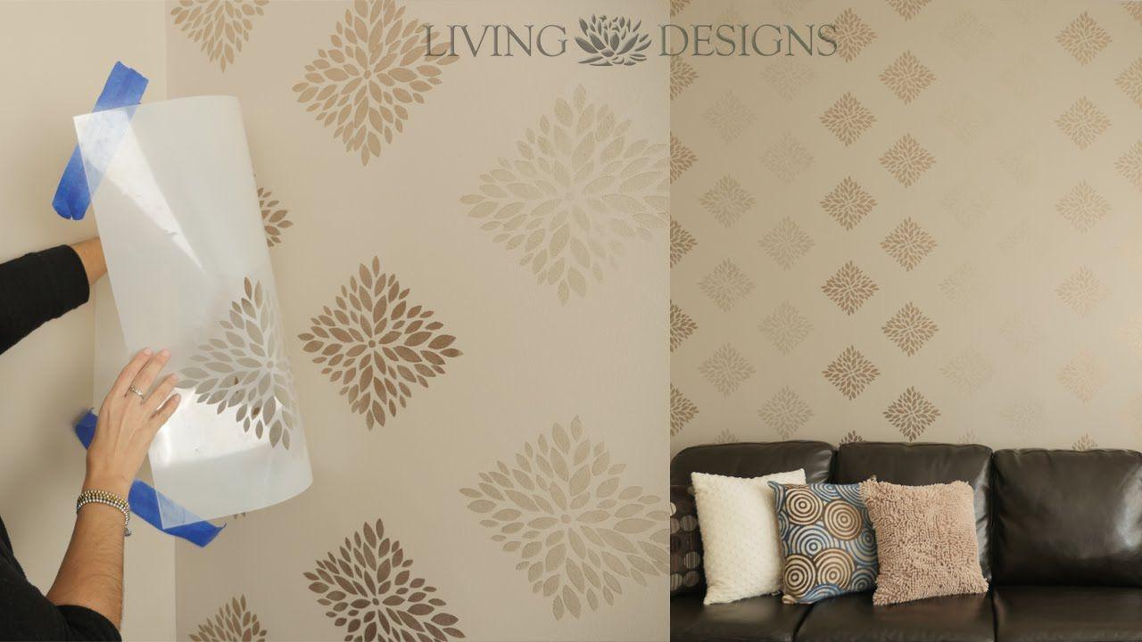 T cnica para pintar paredes con plantillas decorativas a - Plantillas decorativas pared ...