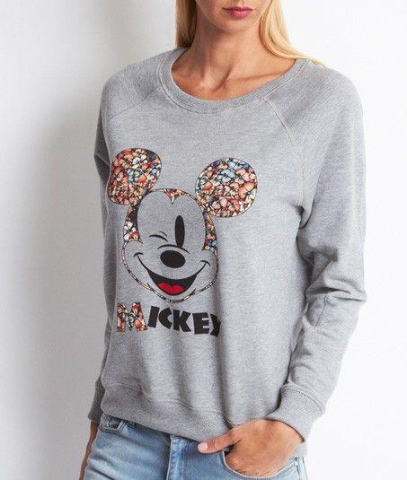 Disney® EtamClothes Imprimé Mickey Gris Sweat Minnie ZuTXOiwPk