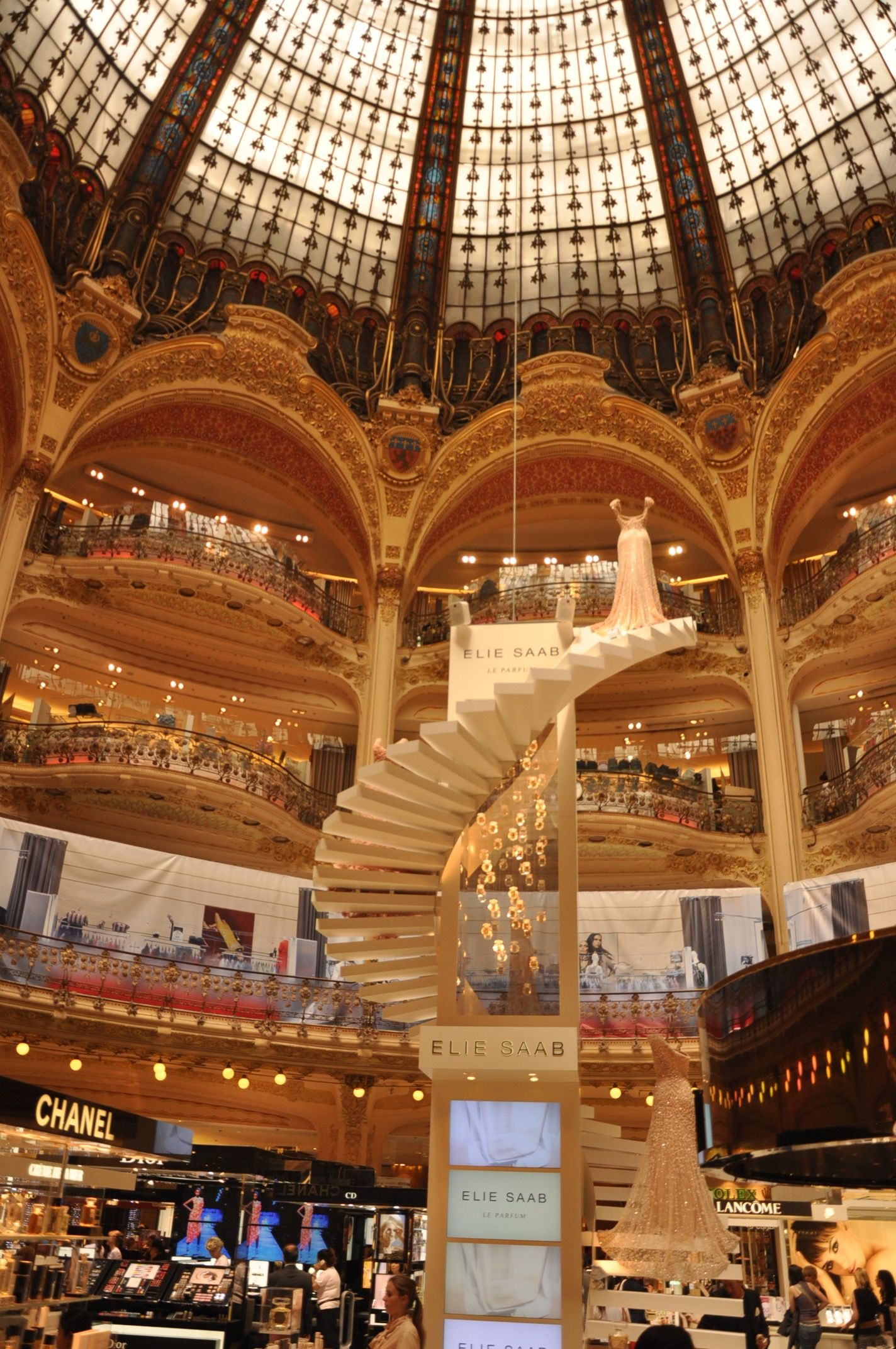 the shopping mall galerias lafayette paris france