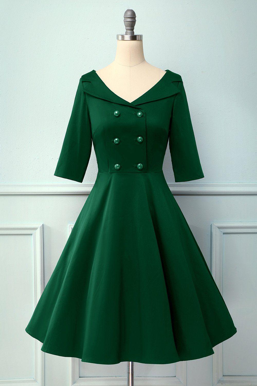 V Neck 1950s Vintage Party Dress Vintage Party Dresses Vintage 1950s Dresses Party Dresses With Sleeves [ 1500 x 1000 Pixel ]