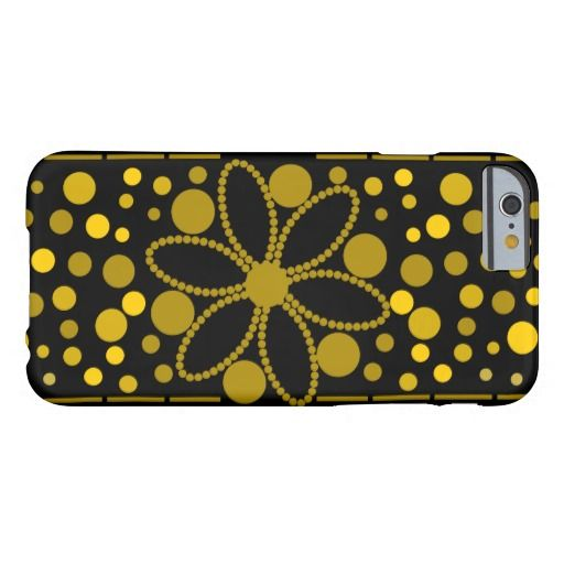 Flowers and circles iPhone case