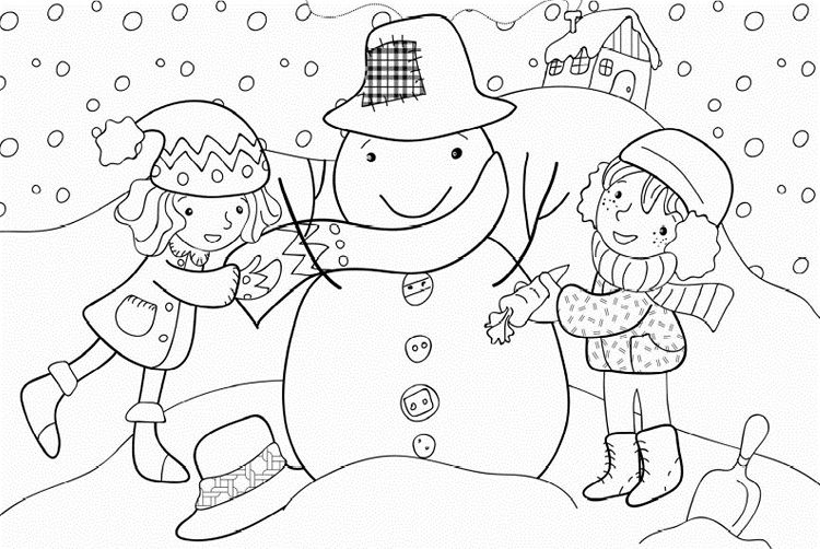 Winter Coloring Pages And Crafts Coloring Pages For Kids Pinterest