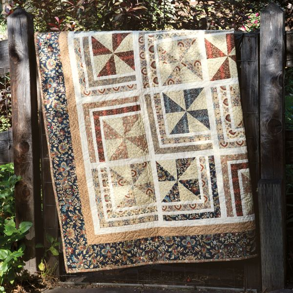 Shout out to Wendy Sheppard of Ivory Spring for designgin this beautiful Winter Wind quilt with Quilting Treasures' Canterbury fabric line! This gorgeous quilt was featured in @mccallsquilting in their November/December 2016 issue. Elegant, masculine, and timeless! Exclusive kits are available for a limited time :)