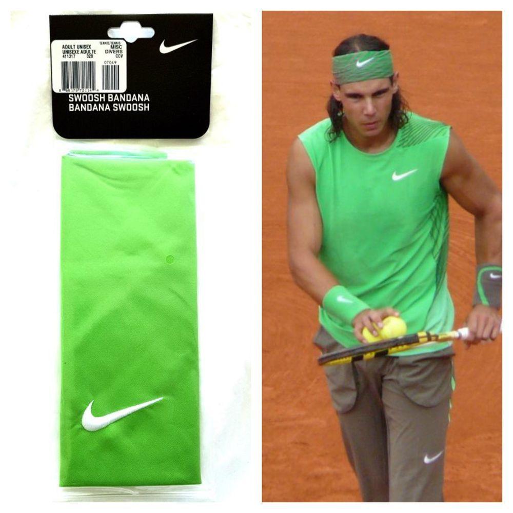 Nike Swoosh Rafa Nadal Roger Federer Tennis Bandana Headband Sweatband Sport New Nike Tennis Rafa Rafanadal Federer Ro Sweatband Roger Federer Rafa Nadal