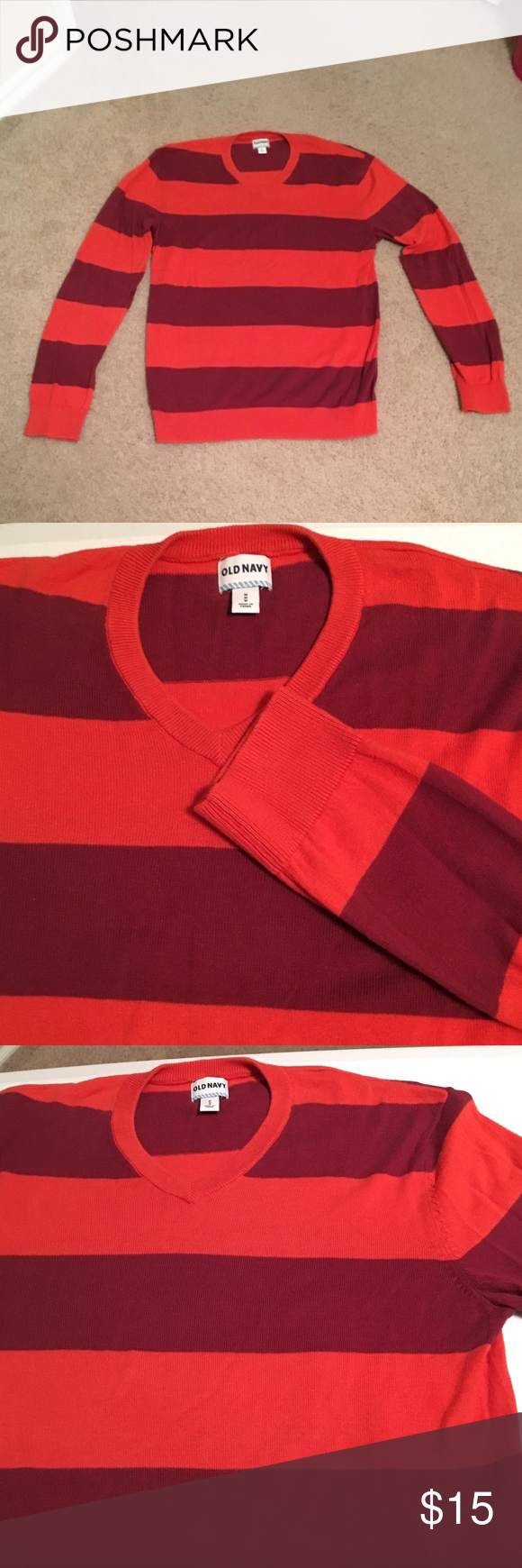 10 DOLLAR SALE Old Navy V Neck Striped Sweater | Navy sweaters ...