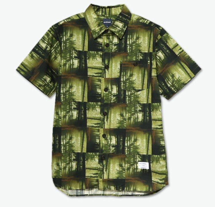 mens shirt sleeve pocket style custom printed bamboo hawaiian shirts