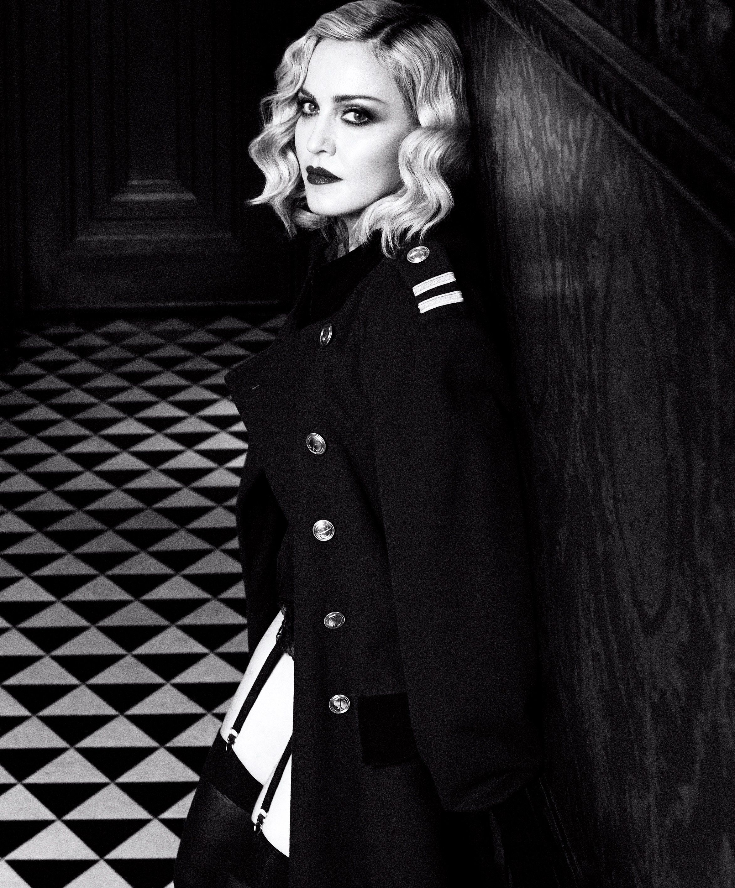 Madonna stars in a dark cover story for the february 2017 issue of harper s bazaar magazine
