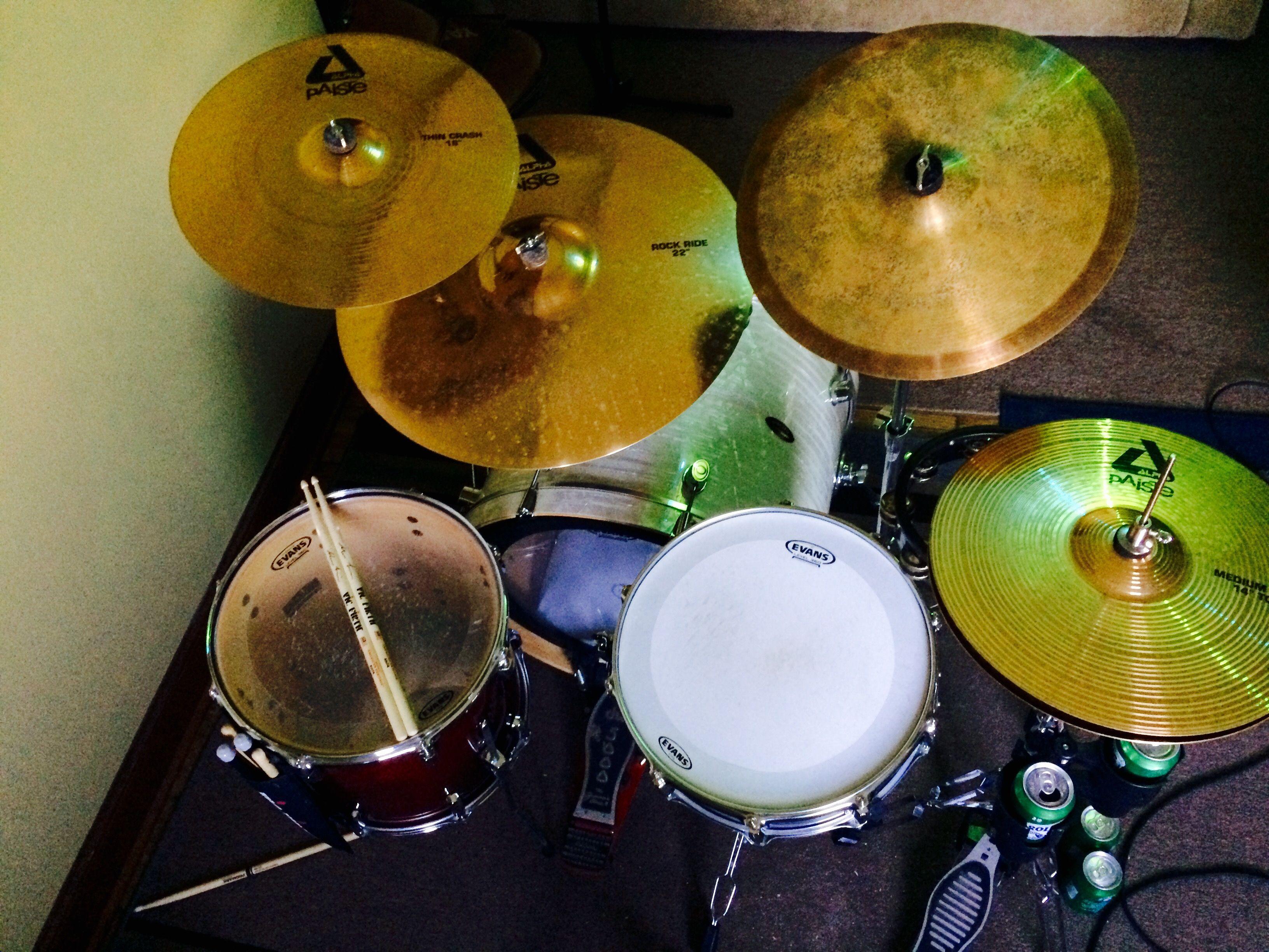 Bateria Musica Porno drum set/ minimal drum set/ paiste cymbals/ drum set pocket