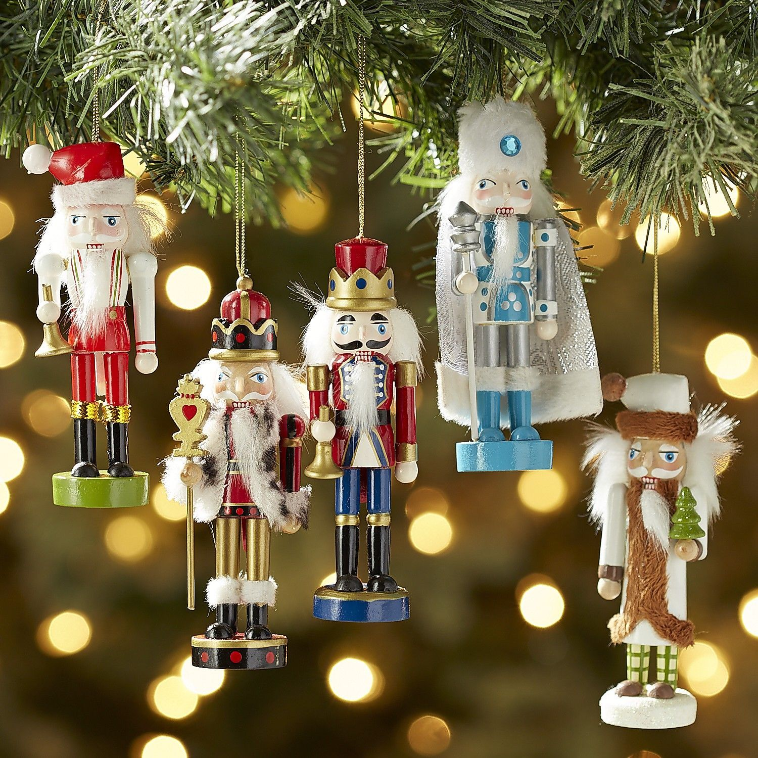 Mini Nutcrackers Ornament Set