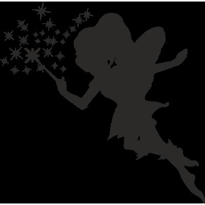 Sticker d co murale la f e clochette eda silhouette - Fee clochette ombre ...