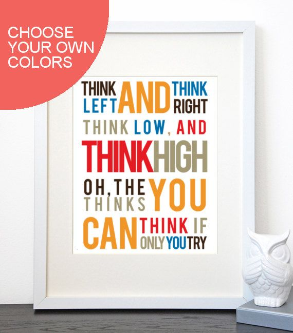 Love inspirational quotes as much as I do? This quote will be the perfect addition to your childs room or playroom and truly says it all...! I