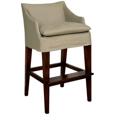 Layla Grayce Normandy Slipcovered Campaign Bar Stool