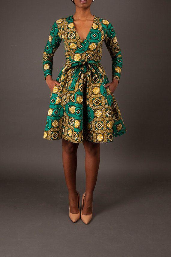 nouveau la diane wrap dress options de longueur de par demestik dresses pinterest robes. Black Bedroom Furniture Sets. Home Design Ideas