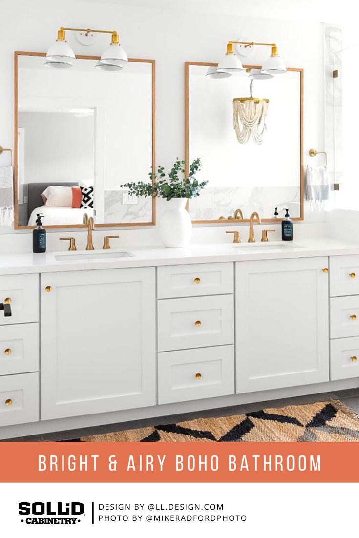 Bright And Airy Bathroom In 2020 Custom Bathroom Custom Bathroom Vanity Custom Kitchen Cabinets