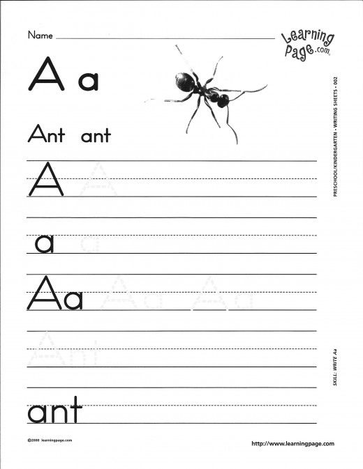 A Worksheets For Kindergarten - Scalien