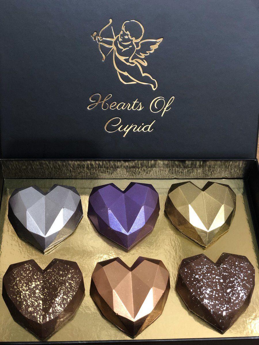Mini Hearts Box of 6 – heartsofcupid | Dark chocolate nutella, Mini heart, Chocolate hearts