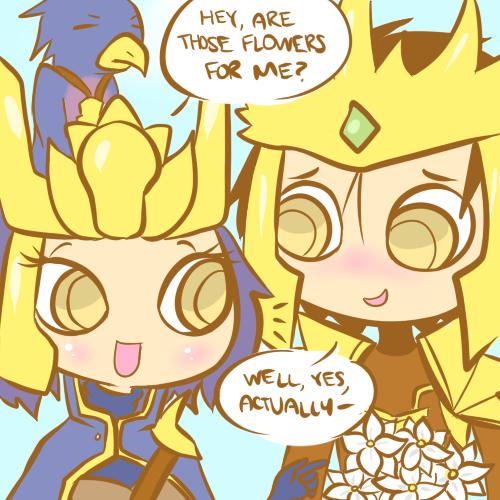 jarvan and quinn   Riot Romance   Fan art   League of Legends