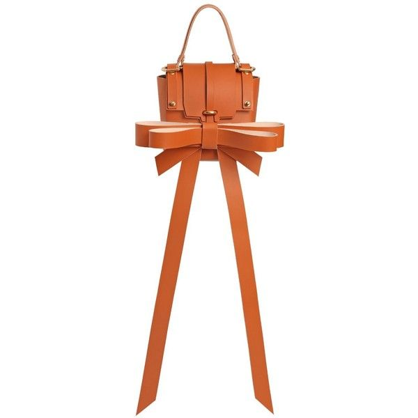 Niels Peeraer Women Small 3pm Big Ribbon Leather Bag ($815) ❤ liked on Polyvore featuring bags, handbags, shoulder bags, tan, tan purse, long shoulder bags, white shoulder bag, leather shoulder handbags and tan leather shoulder bag