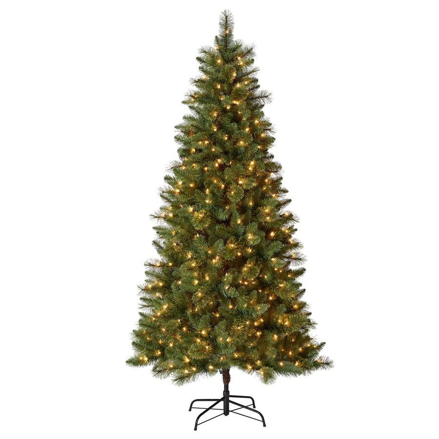 Holiday Living 7 5 Ft Pre Lit Lawndale Slim Artificial Christmas Tree With 500 Constant White Clear Incandescent Lights Lowes Com Slim Artificial Christmas Trees Pre Lit Christmas Tree Christmas Tree
