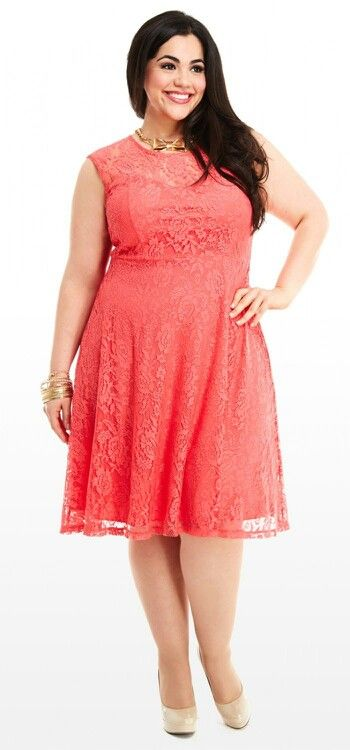 Coral Fish red waist bust dress