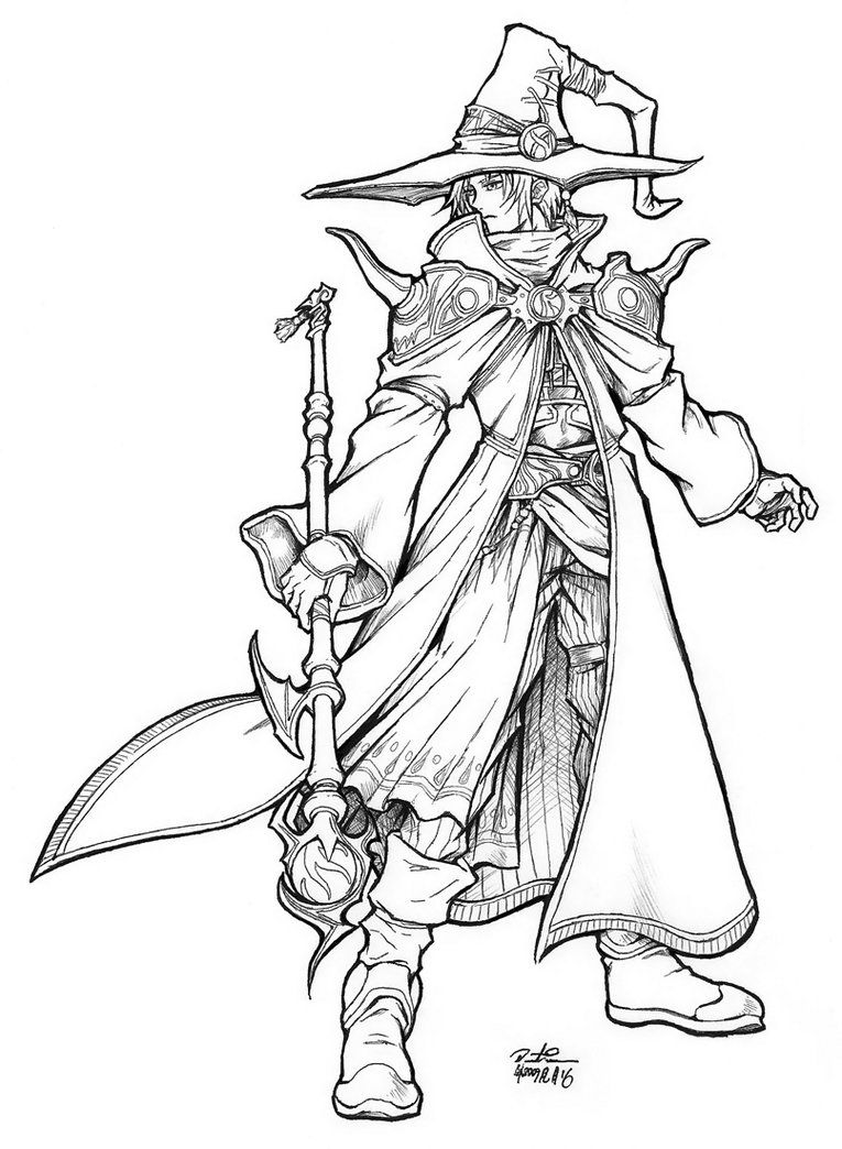Black Mage - amano style by OZKai on deviantART | Dungeons and ...