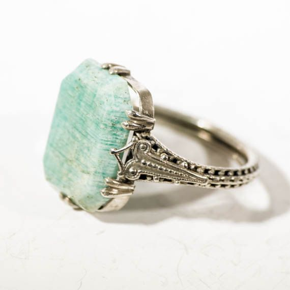 abeb875ca3a52 935 silver jade ring, VINTAGE Art deco embossed finger-ring, emerald ...