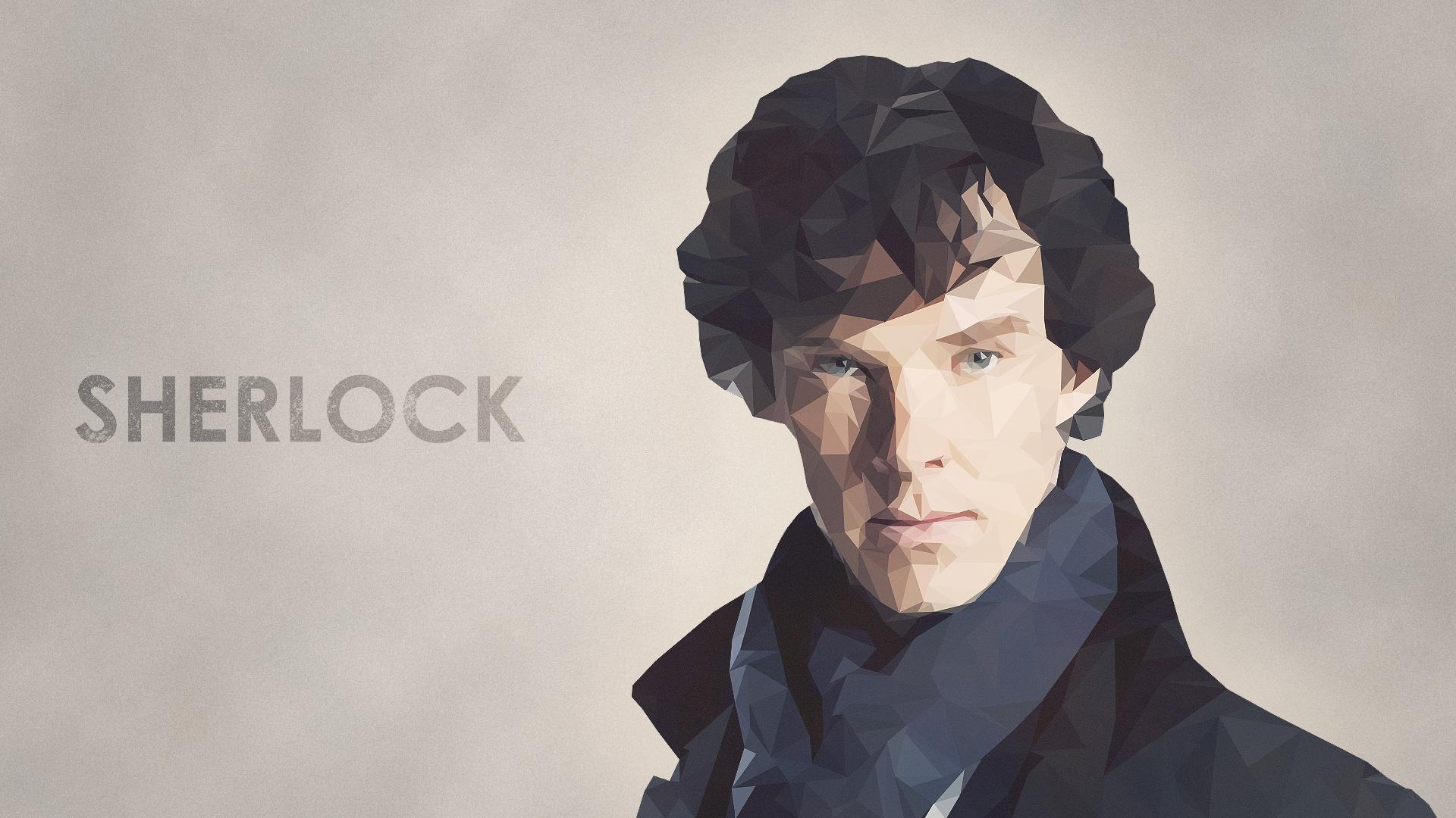 Sherlock low poly wallpaper