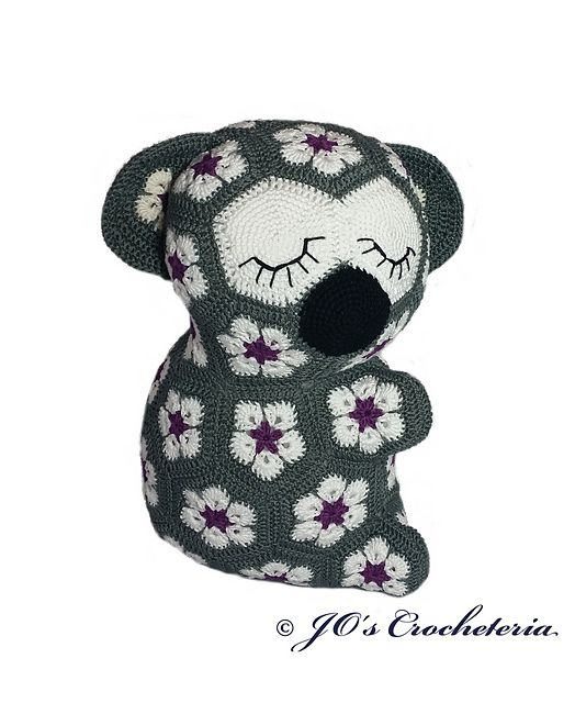 African Flower Koala pattern on Ravelry.com | Knits & Crochets ...