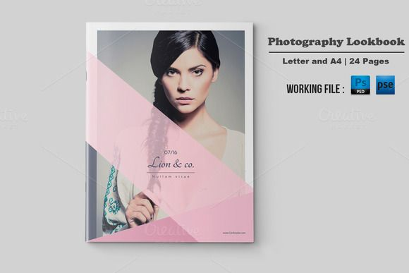 Fashion Lookbook TemplateV Creativework  Brochure Design