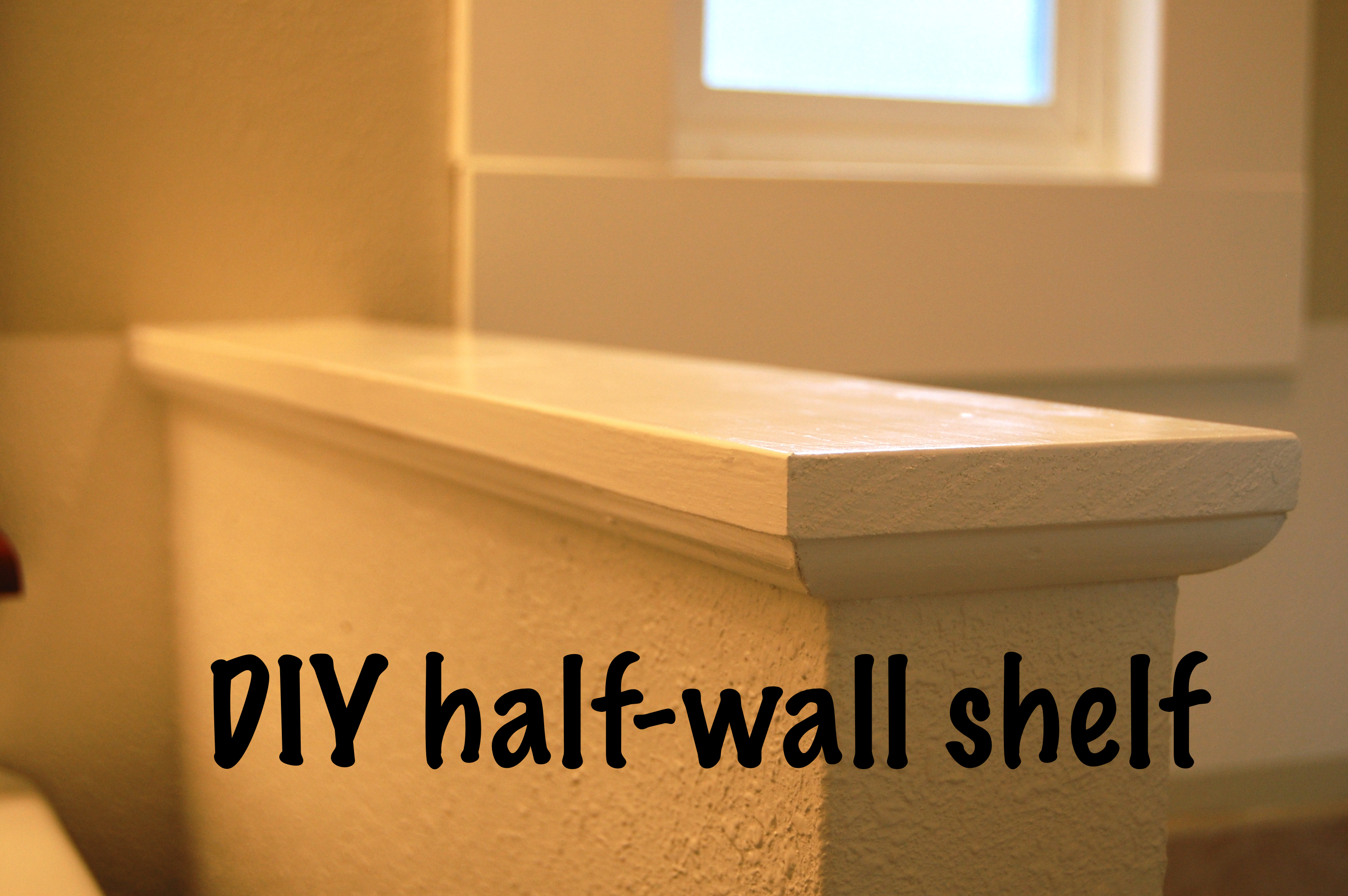 Easy DIY Custom Finishes to Your Handrail or Half Wall | Half walls ...
