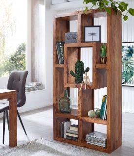 Wohnzimmer Regale Design Pic   Finebuy Bucherregal Massiv Holz Sheesham 90 X 180 Cm Wohnzimmer