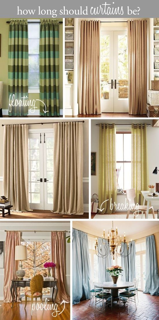 Design Tip How Long Should Curtains Be Floating Above The Floor Breaking On Or Pooling