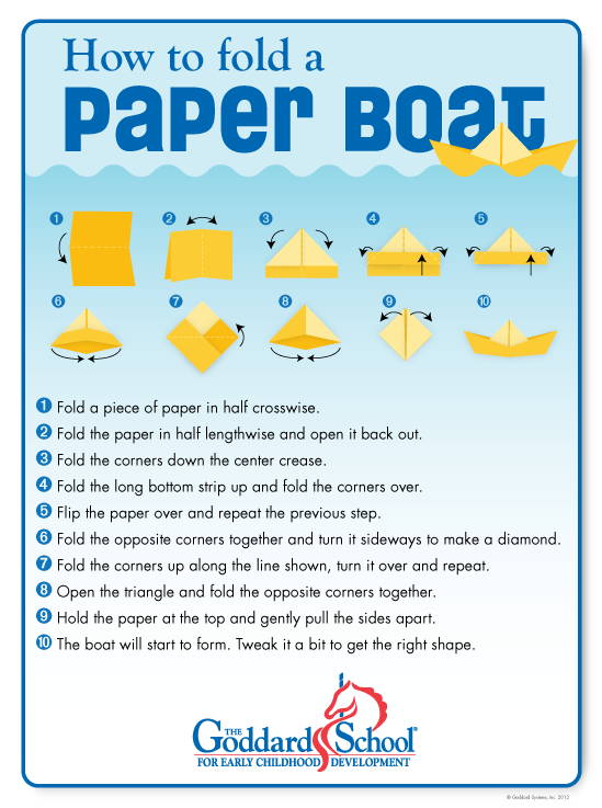 make a paper boat with your children will it sink or