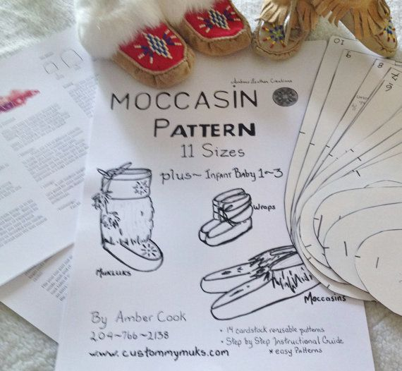 How To Make Wraps Leather Work Moccasins Beading Patterns Pattern
