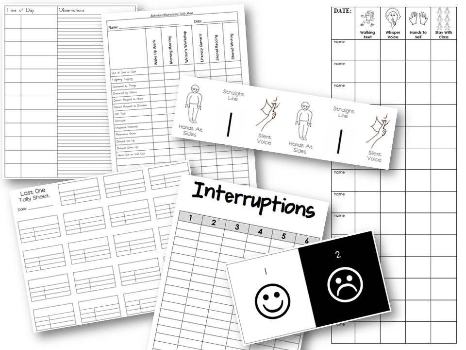 Downloadable individual student behavior tracking files