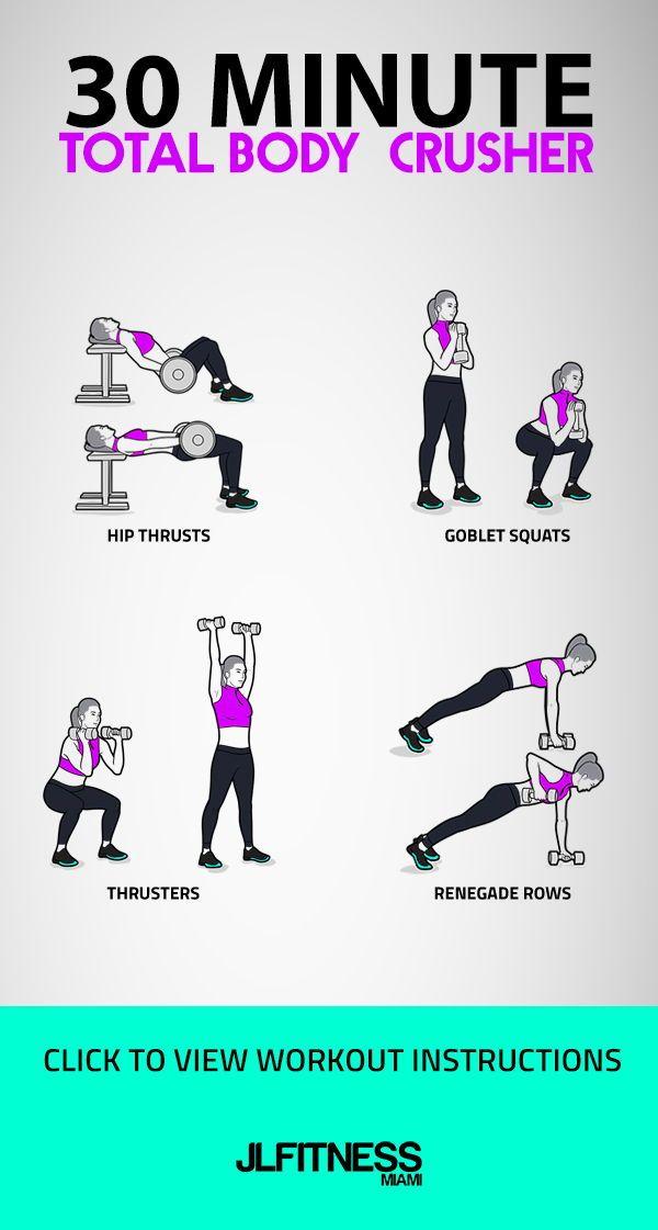 30 Minute Total Body Crusher | JLFITNESSMIAMI #weighttraining