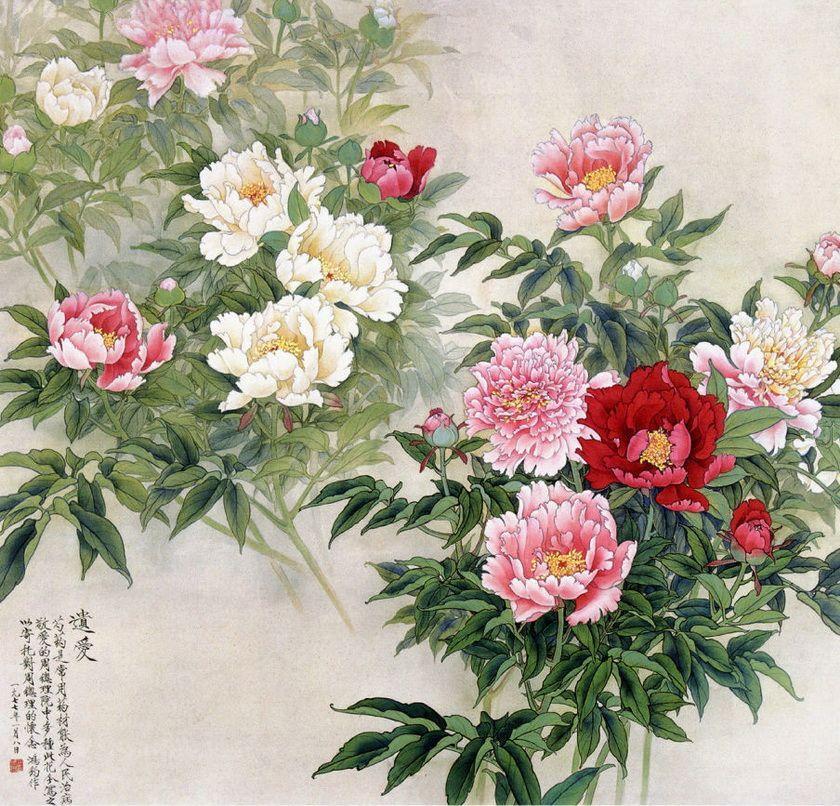 chinese paintings おしゃれまとめの人気アイデア pinterest helena rudik 花 イラスト エキゾチックな花 花 絵