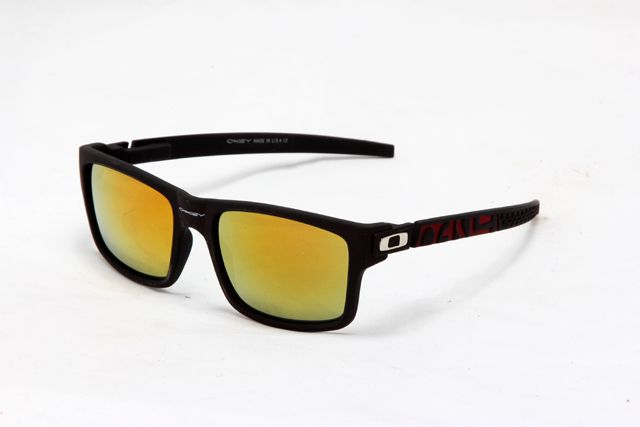 7b3cdff9746 Oakley Currency Sunglass Black Red Silver Frame Yellow Lens