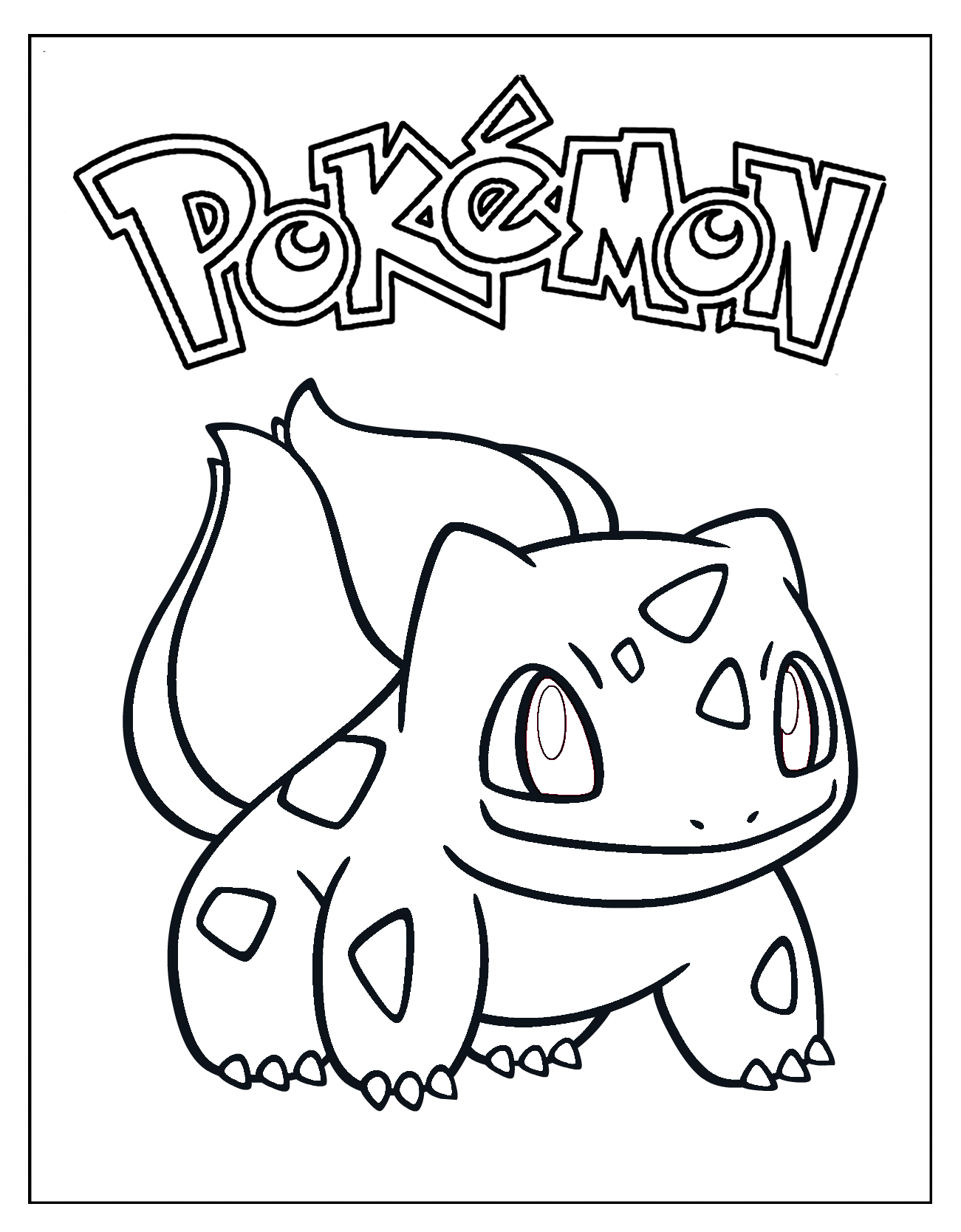 Bulbasaur Coloring Page Xl Background