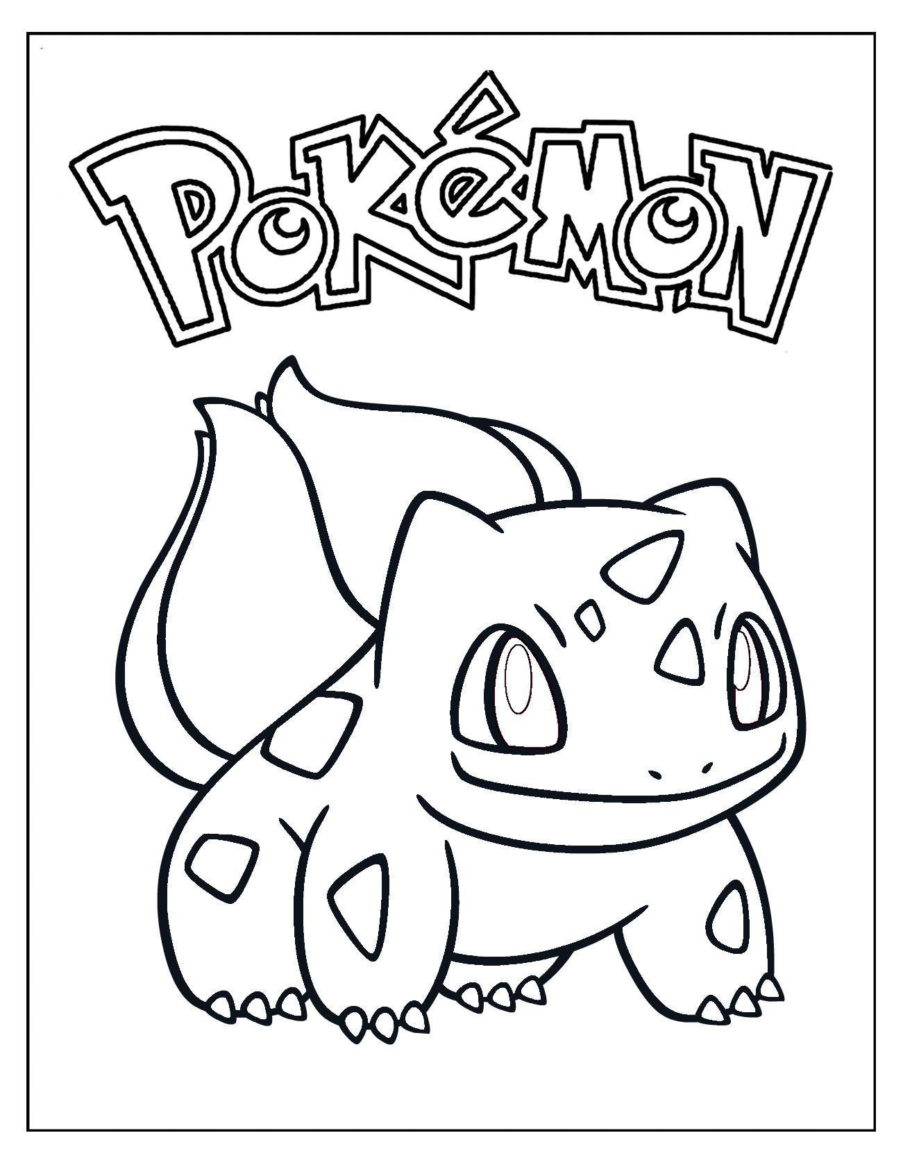 Bulbasaur Coloring Sheet Superhero Coloring Pages Coloring Pages Pikachu Coloring Page