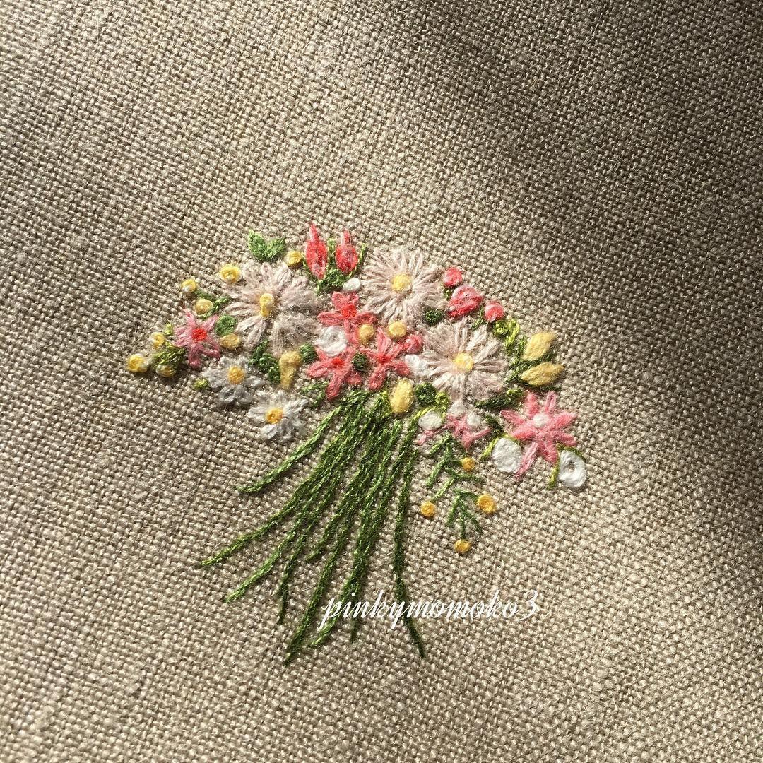 花刺繍 embroidery embroiderythread flowerembroidery