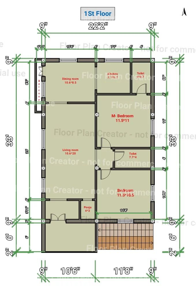 18x38 Floor Plan Modern Floor Plans Roomsketcher 1st