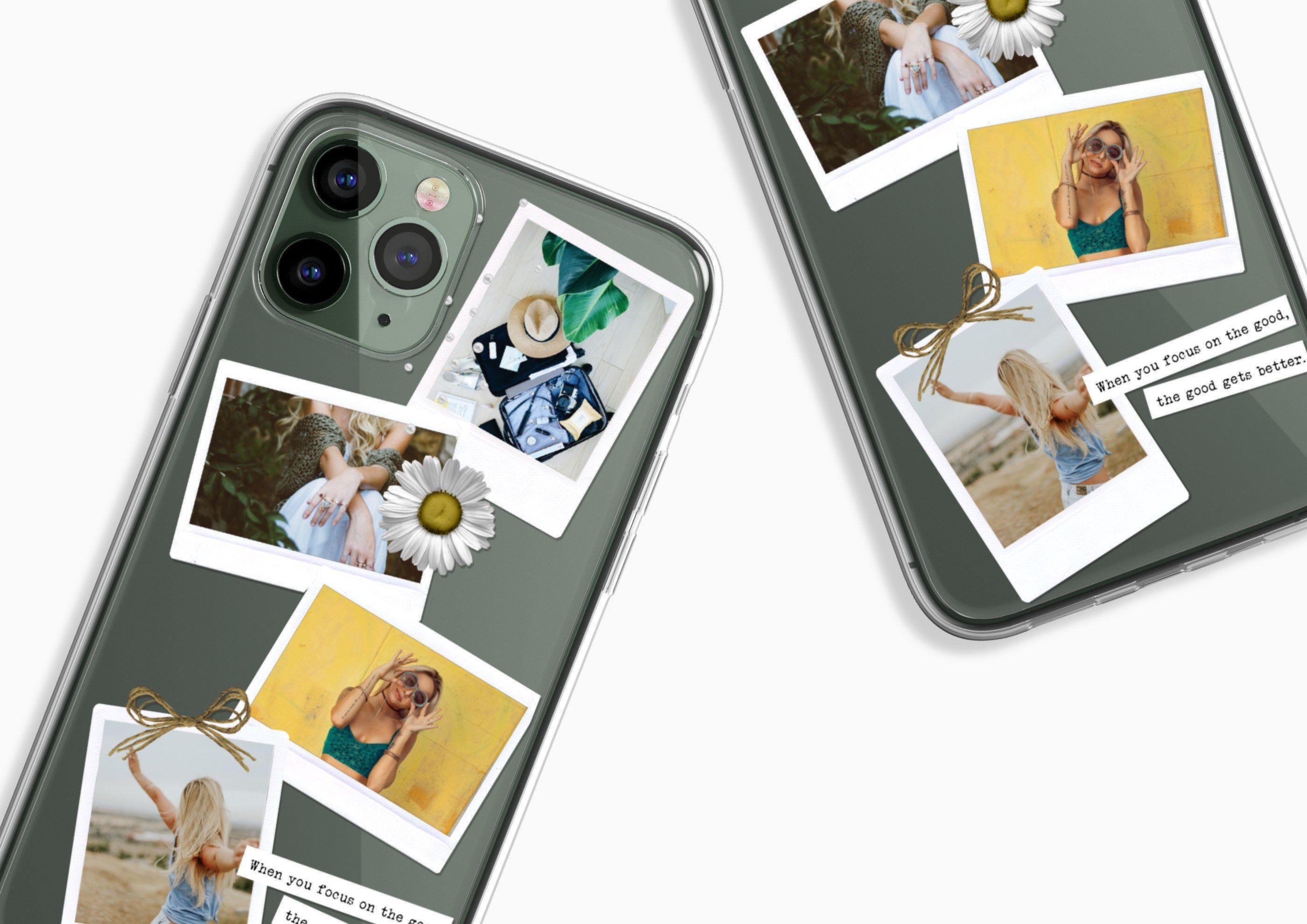 Custom memory polaroid photo phone case clear with photos