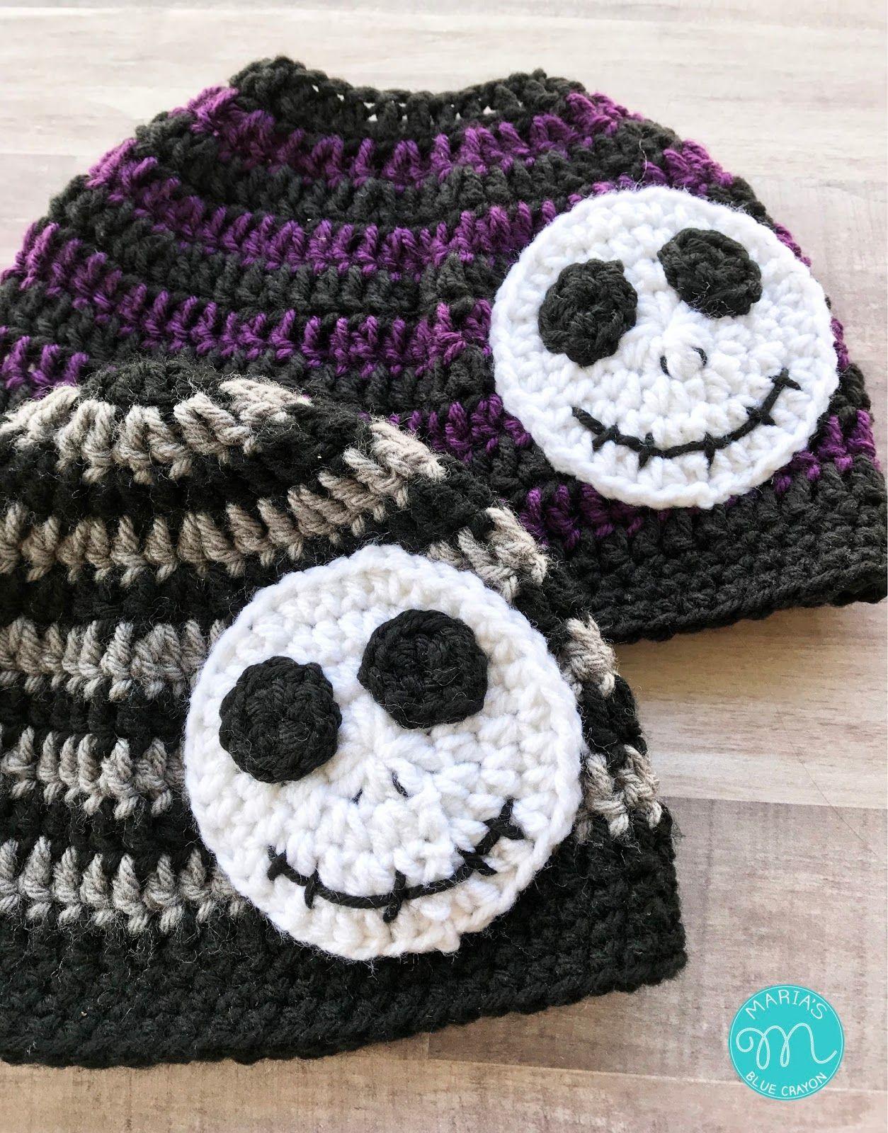 Skeleton Beanie Crochet Pattern #kidsmessyhats