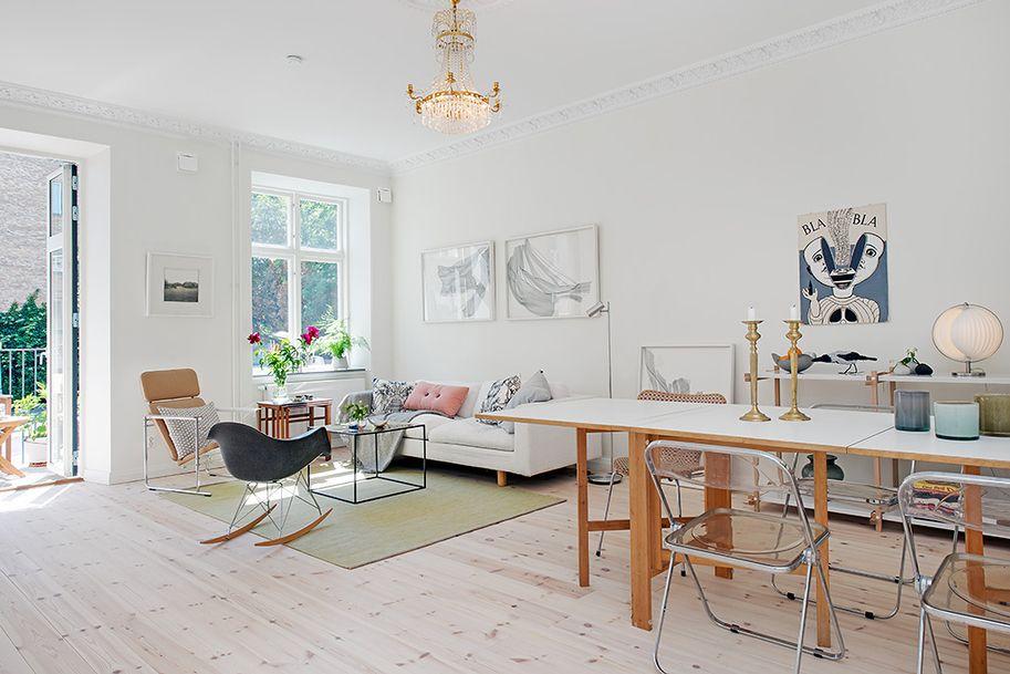 alfombra debajo mesa comedor nordico - Buscar con Google ...