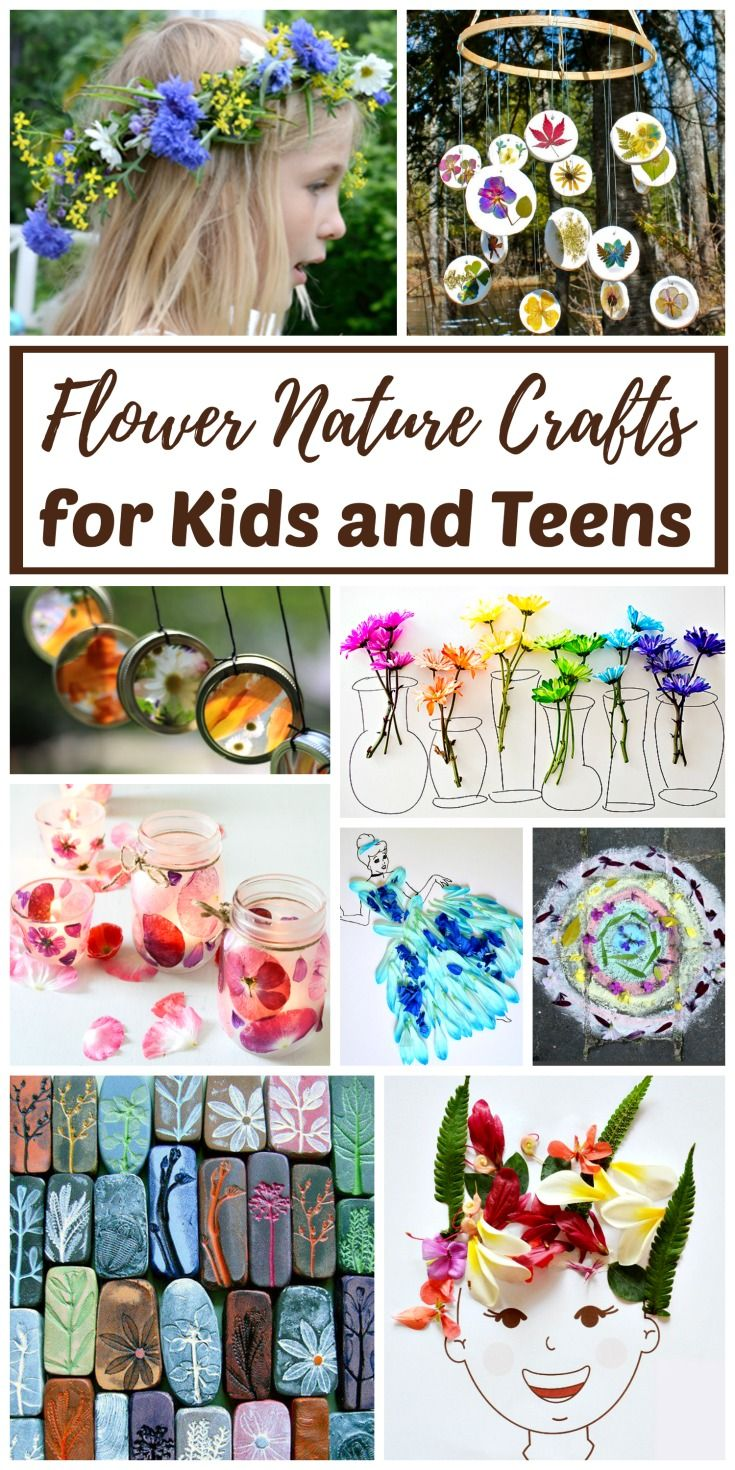 real flower nature crafts for kids and teens nature crafts