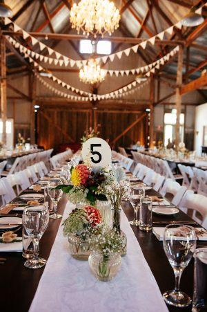 Stunning barn wedding decor: http://www.stylemepretty.com/australia-weddings/2014/06/10/laid-back-rustic-barn-wedding/   Photography: Louisa Bailey - http://www.louisabailey.com/