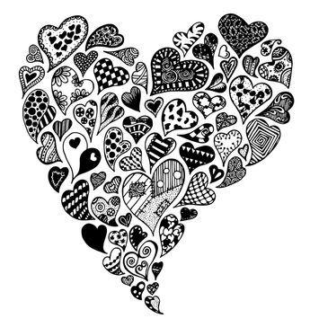 Zentangle Cœur 1 L Atelier De Sally Journal Dessin